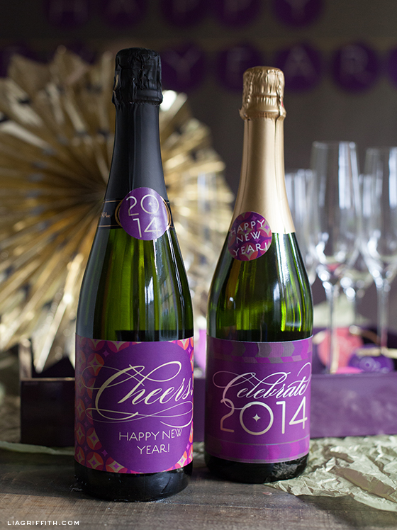 New Years Eve Champagne Labels