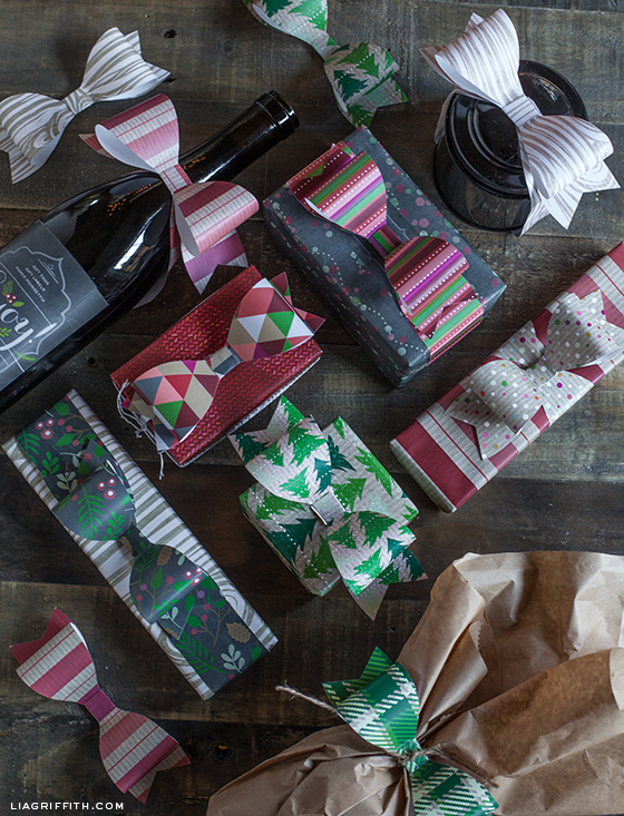 Paper Bow Gift Toppers