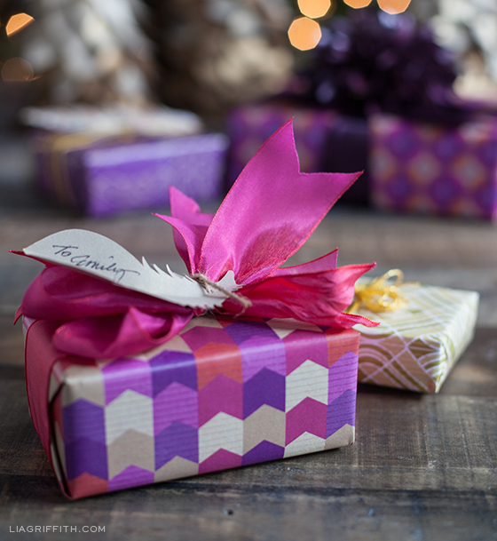 Plum Chevron Gift Wrap