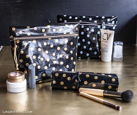 DIY Makeup Bags and Brush Roll