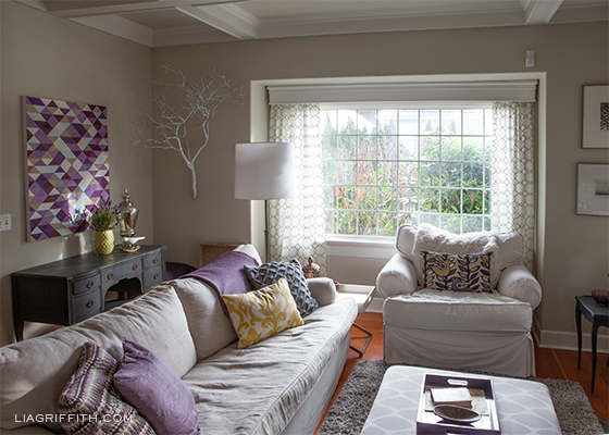 Plum Living Room Decor