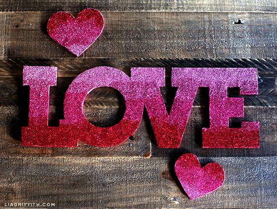 Ombre Pink Glitter Love Banner