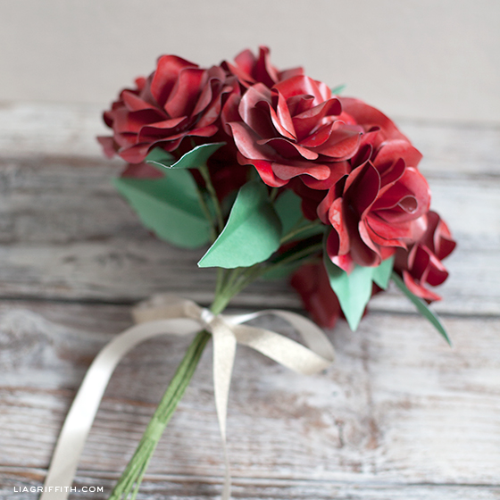 Paper Red Rose Bouquet