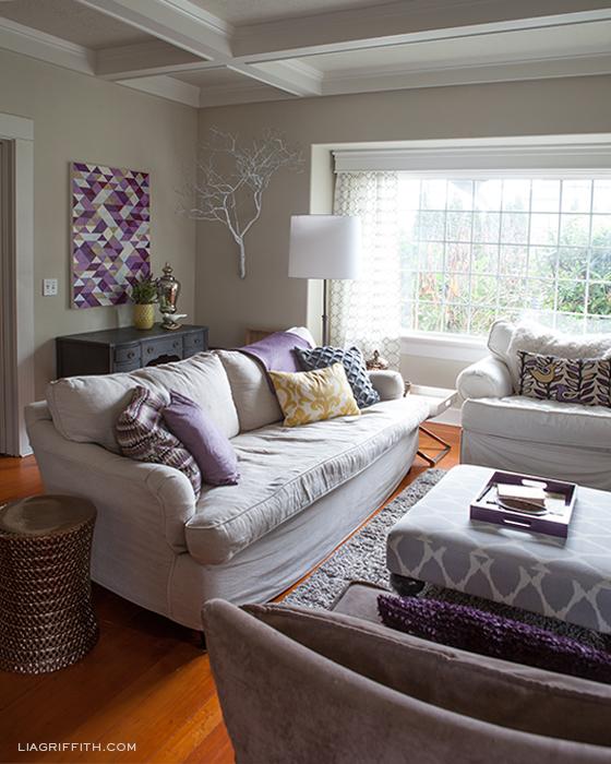 Plum Artwork Livingroom