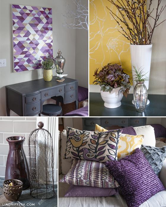 Purple Details Livingroom