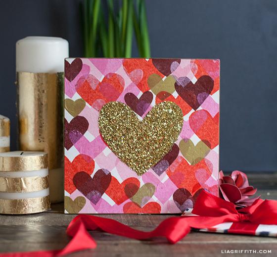 Tissue and Glitter Art Ideas