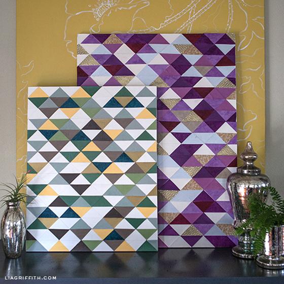 DIY triangle wall art