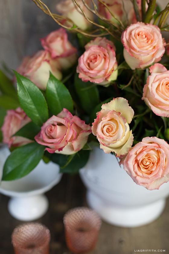DIY Rose Floral Arrangement