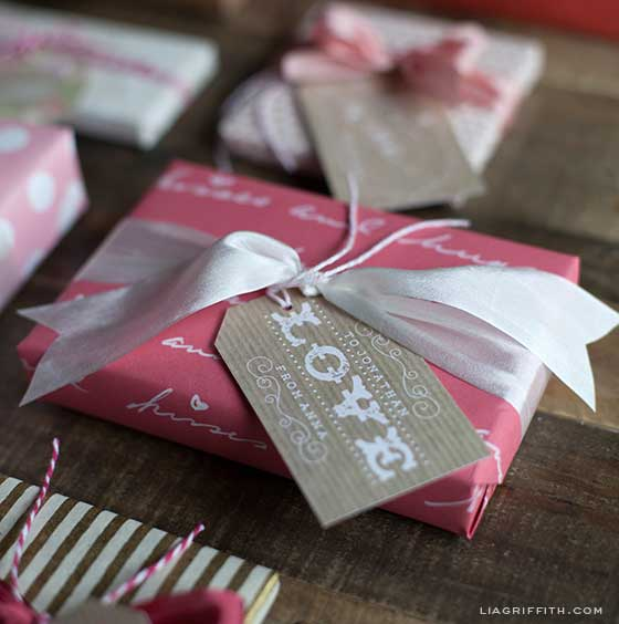LOVE gift tag for Valentine's Day