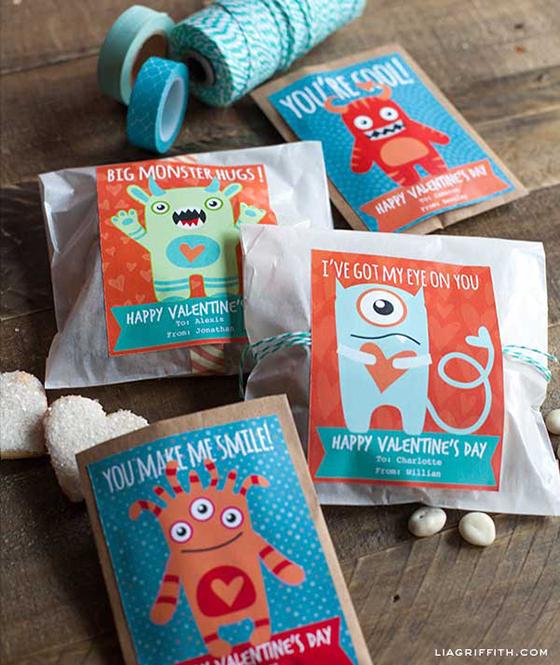 Little Monster Valentine Labels