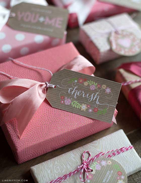 Sweet Vintage Valentine Gift Tag Printables