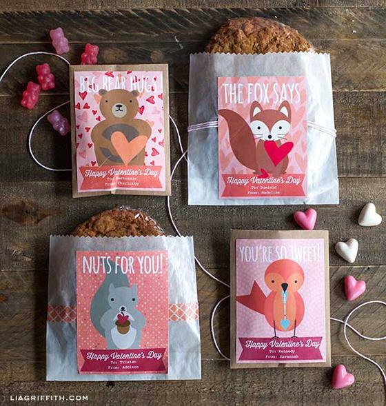 Sweet Woodland Valentine Labels