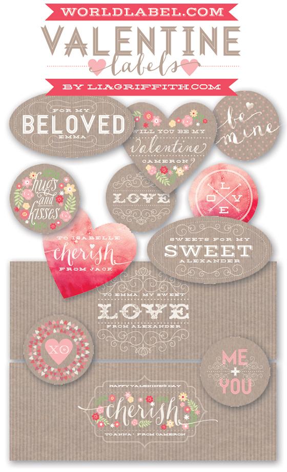 Valentine Labels Free Printable