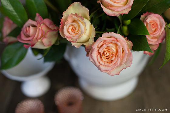 Grocery Store Roses Centerpiece Tutorial