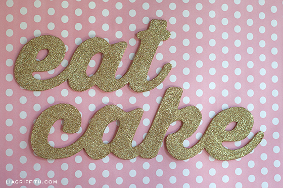 Glitter Party Sign