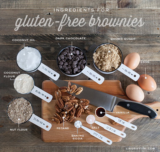 Gluten Free Brownie Ingredients