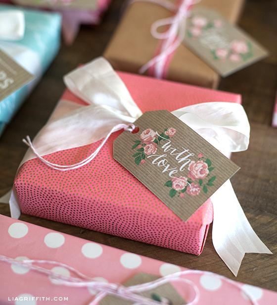 With Love Kraft Gift Tag Printable