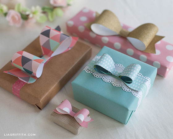 Template for Paper Bows
