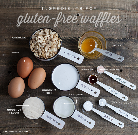 Gluten free waffles ingredient