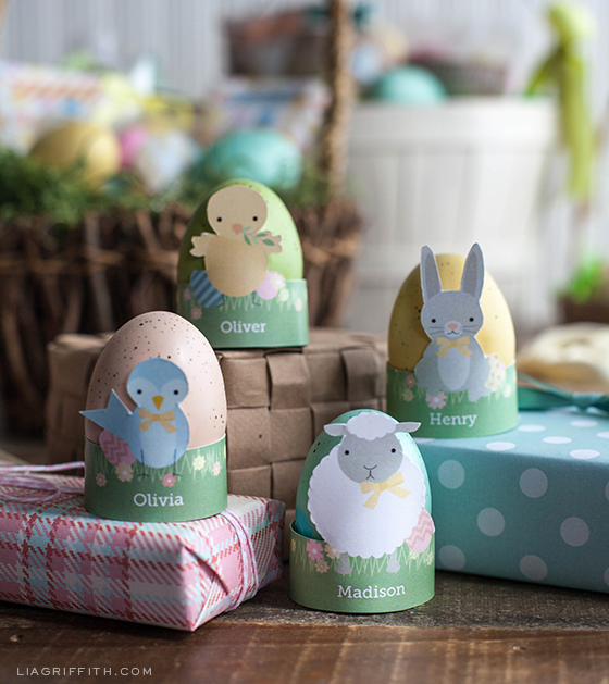 Printable Cute Easter Egg Holders