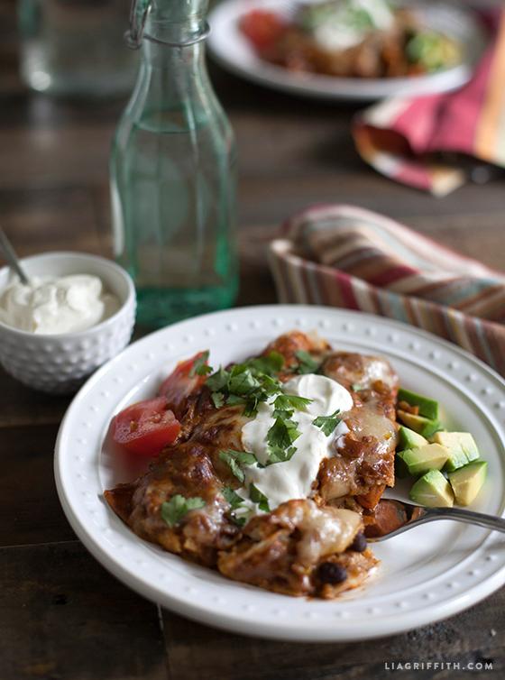 Vegetable-Mole-Sauce-Enchiladas