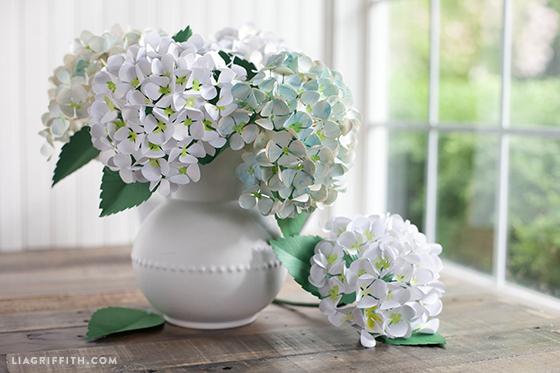 Paper Flower Hydrangea DIY