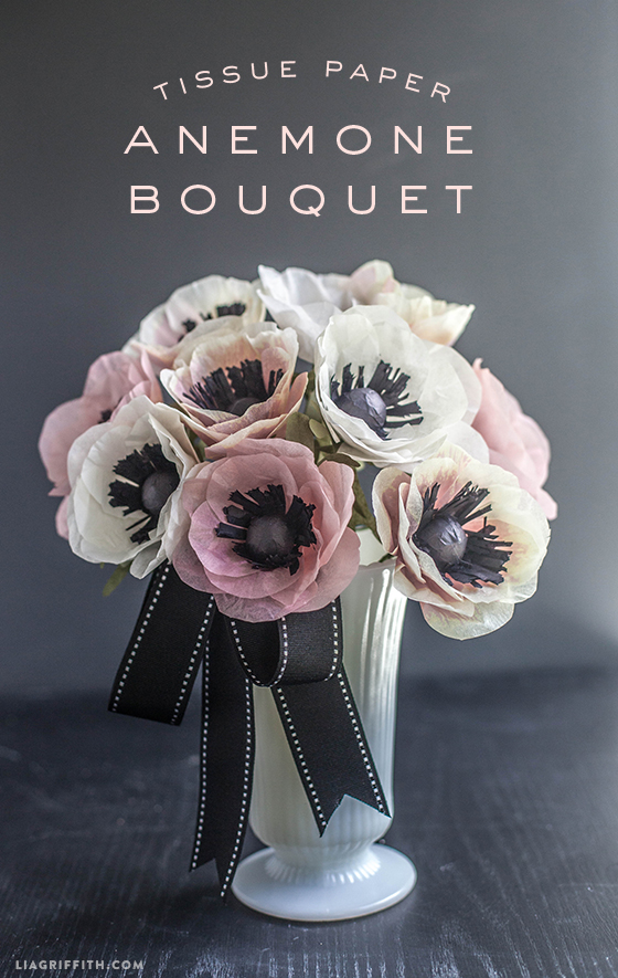 DIY Tissue Paper Anemone Bouquet