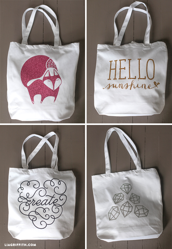 Iron on tote bags to make yourself with free template