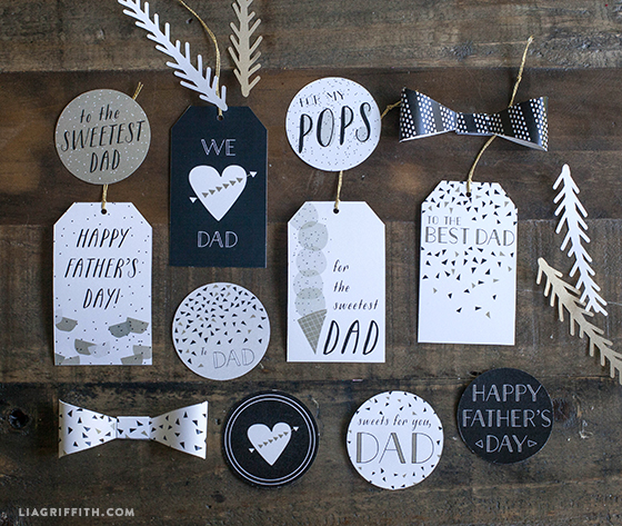 Printable Father S Day Gift Wrap Tags Lia Griffith
