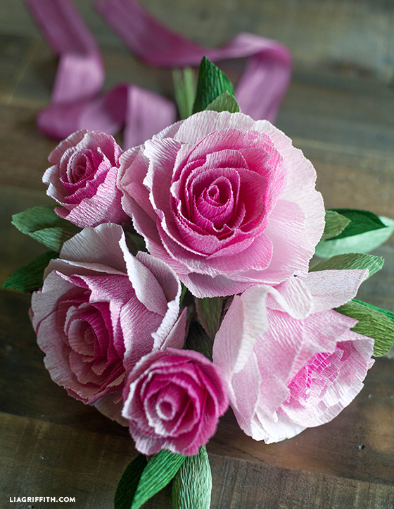 Ombre Crepe Paper Rose