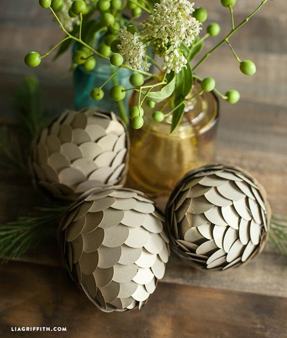 Woodland_Metallic_Paper_Pine_Cones