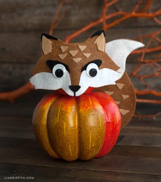 felt fox pumpkin