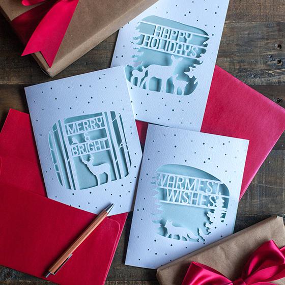 Elegant Paper Cut Christmas Cards Lia Griffith
