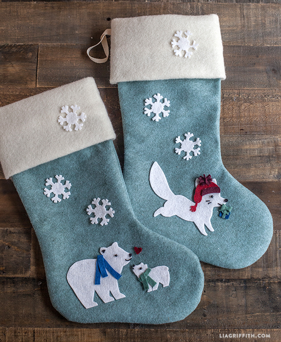 allen wool felt christmas stocking