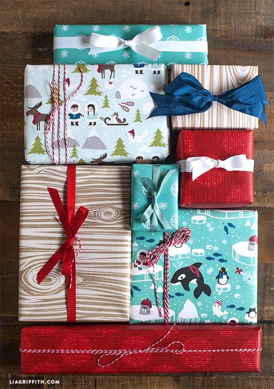 Polar_Printable_Christmas_Gift_Wrap