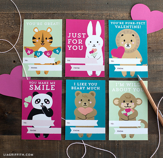 Kids Valentines Day cards