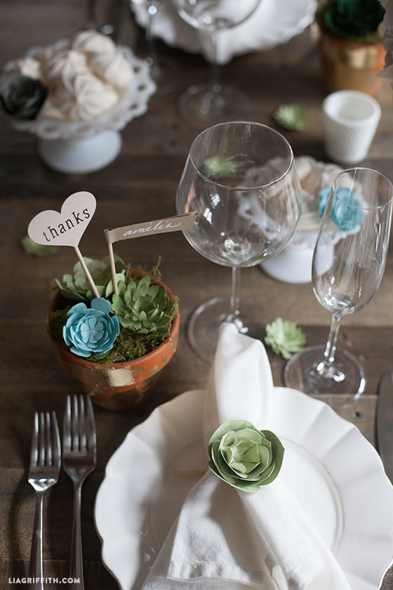 Paper_Succulent_Table_Setting
