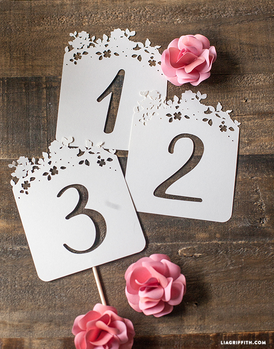 Spring Blossom Wedding Table Numbers 1 10 Lia Griffith