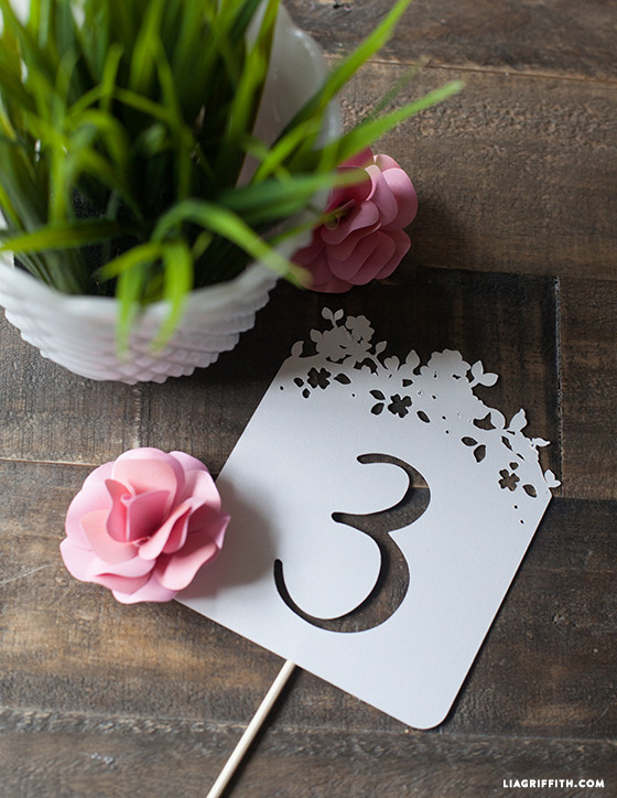 papercut wedding table numbers