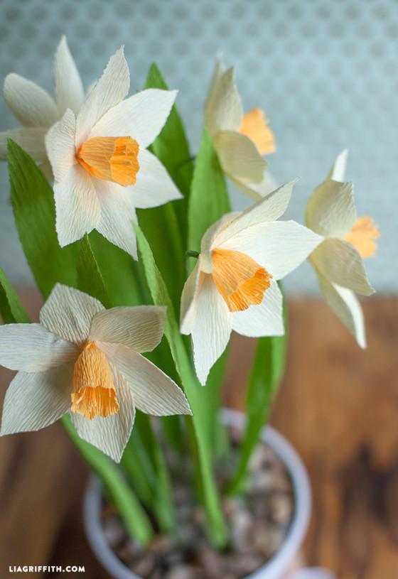 Daffodils_Crepe_Paper_DIY