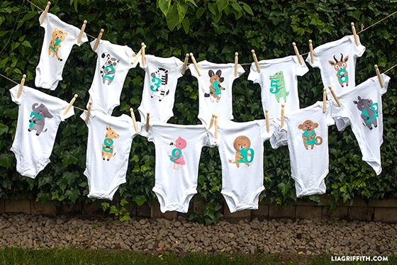 Printable baby month tees
