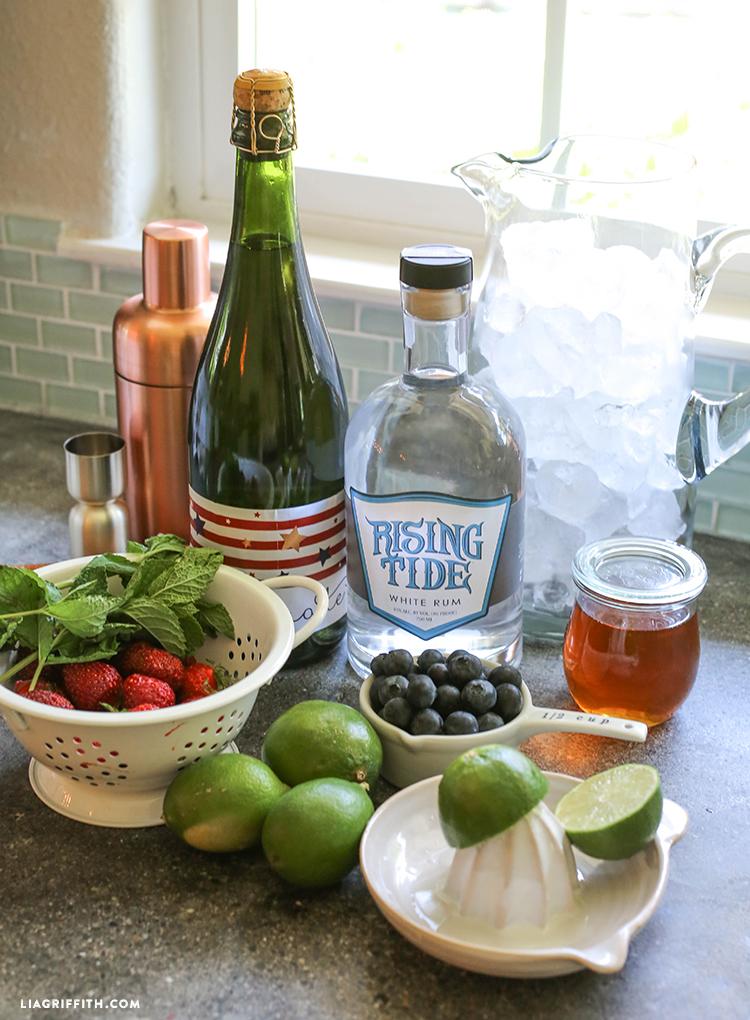 Ingredients_Sparkling_Berry_Mojitos
