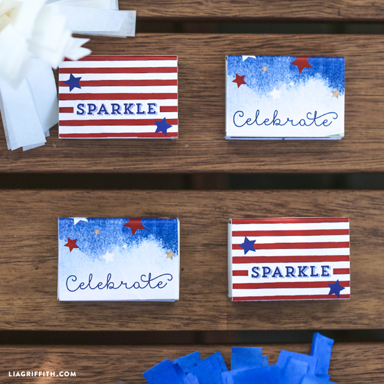 Matchbook labels for July 4th thumbnail