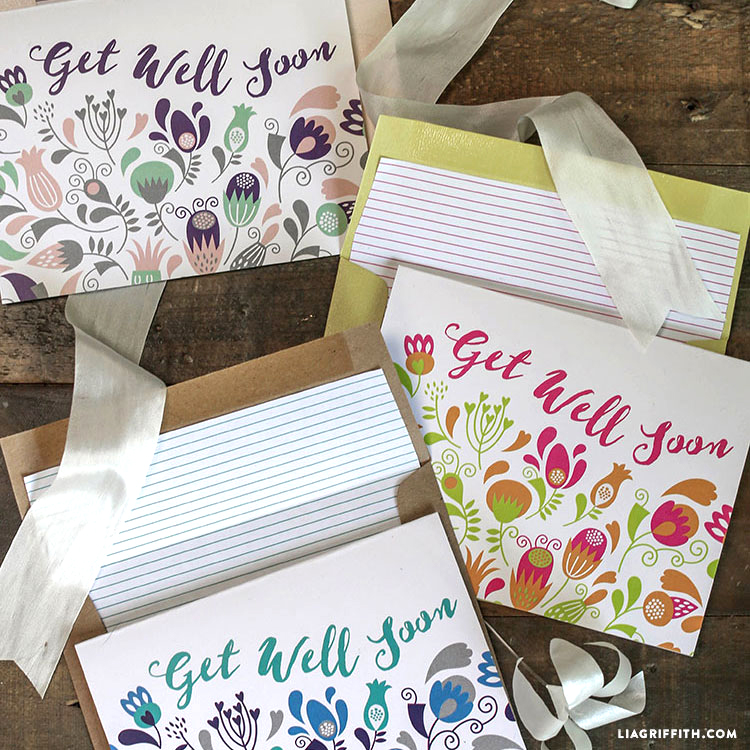Printable Get Well Soon Cards Lia Griffith