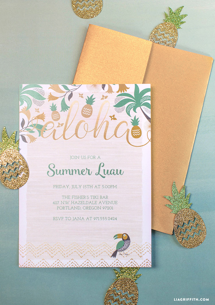 Luau_Party_Invitation_Gold_Foil