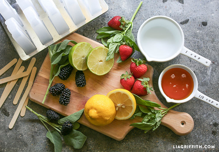 ingredients for fruit popsicle recipe