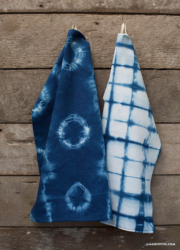 Tea_Towels_Kitchen_Indigo_Shibori_Hand_Dyed