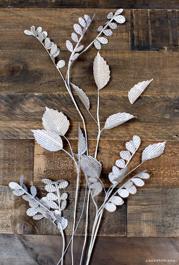 DIY_Book_Page_Paper_Leaves