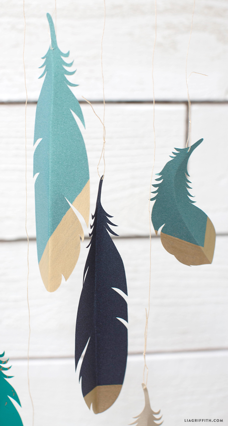 Godl_Dipped_Paper_Feathers