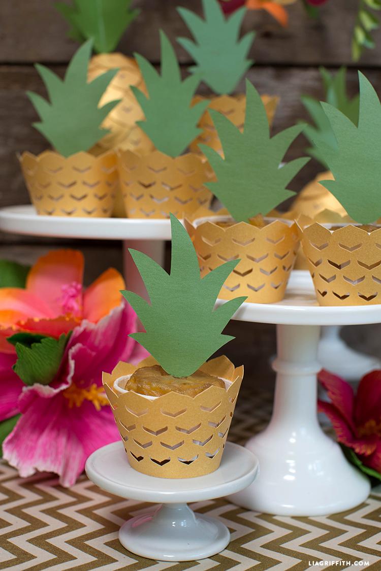 pineapple cupcake decorations